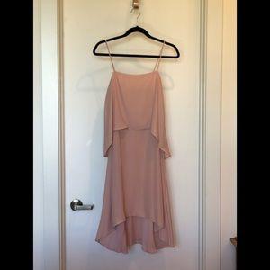 Banana Republic Tiered Strap Dress Sz 2 Dusty Pink